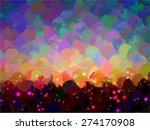 abstract sunset round brush... | Shutterstock . vector #274170908