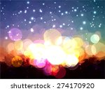 sunset brush strokes background.... | Shutterstock . vector #274170920