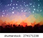 starry sky brush strokes... | Shutterstock .eps vector #274171238