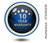 ten year warranty circular icon ... | Shutterstock . vector #274182650