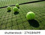 tennis balls on tennis grass... | Shutterstock . vector #274184699