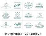 set of vector garden and farm... | Shutterstock .eps vector #274185524