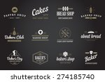 set of vector bakery pastry... | Shutterstock .eps vector #274185740