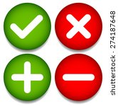 set of 4 icons with check mark  ... | Shutterstock .eps vector #274187648