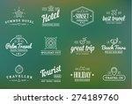 set of vector travel tourism... | Shutterstock .eps vector #274189760