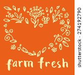 vector fresh food hand written... | Shutterstock .eps vector #274192790