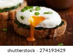 Poached Egg On A Piece Of Brea...