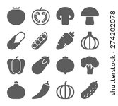 vegetable icons | Shutterstock .eps vector #274202078