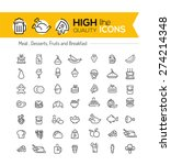 food line icons including  meat ... | Shutterstock .eps vector #274214348