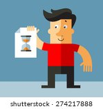 business man holding a blank... | Shutterstock .eps vector #274217888