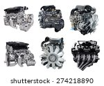 set of new car engine isolated... | Shutterstock . vector #274218890