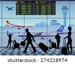 airport passenger terminal.... | Shutterstock .eps vector #274218974