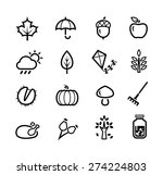 collection of icons... | Shutterstock .eps vector #274224803