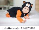 Baby Girl In Cat Costume