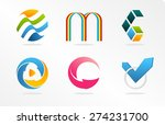 abstract logo vector collection.... | Shutterstock .eps vector #274231700