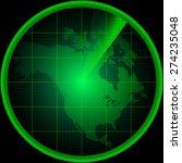 illustration of radar screen... | Shutterstock .eps vector #274235048