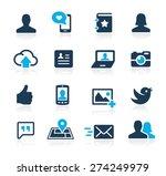 social icons    azure series | Shutterstock .eps vector #274249979