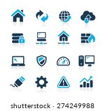web developer icons    azure... | Shutterstock .eps vector #274249988