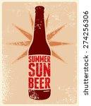 summer  sun  beer. typographic...   Shutterstock .eps vector #274256306