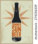 summer  sun  beer. typographic...   Shutterstock .eps vector #274256339