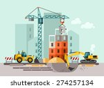 construction site  building a... | Shutterstock .eps vector #274257134
