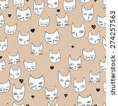 vector seamless cute graphical... | Shutterstock .eps vector #274257563