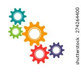 vector colorful gears icon in... | Shutterstock .eps vector #274264400