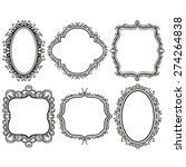 set of black vintage frames on... | Shutterstock .eps vector #274264838