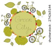 green city vector illustration