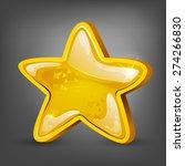 cartoon gold star. vector...