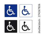 handicap sign vector set  | Shutterstock .eps vector #274267826