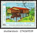 laos   circa 1987  a stamp... | Shutterstock . vector #274269539