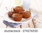bran muffins with apple and... | Shutterstock . vector #274276520