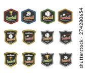 set of labels for baseball.... | Shutterstock .eps vector #274280654