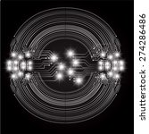 dark black color light abstract ... | Shutterstock .eps vector #274286486