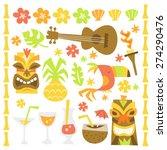 a whimsical retro illustration... | Shutterstock .eps vector #274290476
