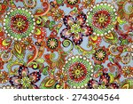 macro bright floral pattern on... | Shutterstock . vector #274304564