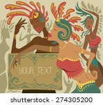 carnival girls  festival party... | Shutterstock .eps vector #274305200