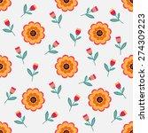 seamless pattern of beautiful... | Shutterstock .eps vector #274309223