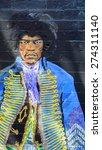 Постер, плакат: Jimi Hendrix mural in