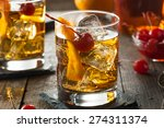 homemade old fashioned cocktail ... | Shutterstock . vector #274311374