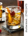 homemade old fashioned cocktail ... | Shutterstock . vector #274311473