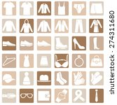 vector set of wear icons | Shutterstock .eps vector #274311680