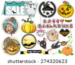 cartoon halloween vector...   Shutterstock .eps vector #274320623