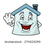 happy house showing hand