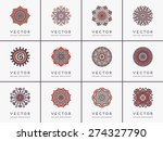 mandalas collection. round... | Shutterstock .eps vector #274327790
