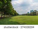 landscape lawn  in a park with... | Shutterstock . vector #274328204