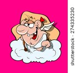laughing funny cupid | Shutterstock .eps vector #274335230
