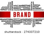 brand word with business... | Shutterstock . vector #274337210