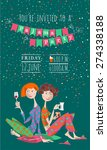 pajama party. invitation.... | Shutterstock .eps vector #274338188